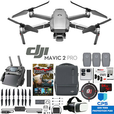 DJI Mavic 2 Pro Drone Fly More Kit with Hasselblad Camera 64GB Essential Bundle