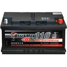 Autobatterie 12V 110Ah 900A BlackMax Starterbatterie statt 90Ah 95Ah 100Ah 105Ah