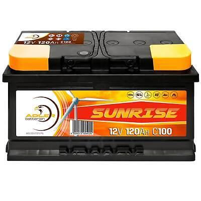 Adler Solar Batterie 12V 120Ah Verbraucher Boot Versorgung Camping ers 100Ah Marine Batterie