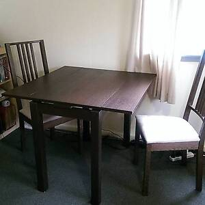 IKEA extendable dining table + 2 chairs set Annerley Brisbane South West Preview