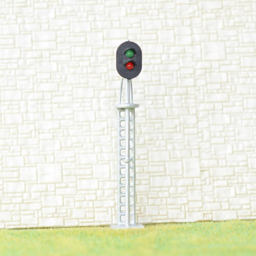 4 x OO / HO scale 2 aspects railroad signals green/red block signal LEDs made #2