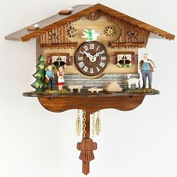 Kuckulino Black Forest Clock with quartz movement and cuckoo ch.. TU 2042 PQ NEW
