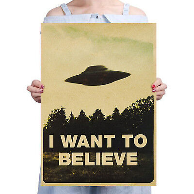 New Vintage Classic X Files I Want To Believe Poster Home Decor Wall Sticker Ns