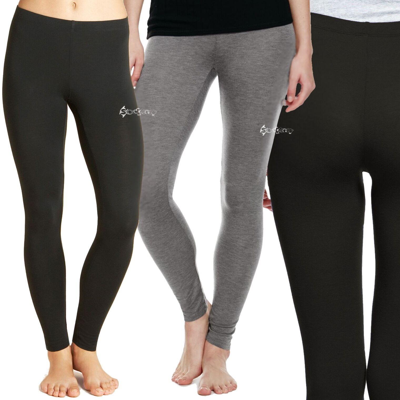 Ladies Ex M&S Heatgen Thermal Leggings Sizes 6-24 Black Grey