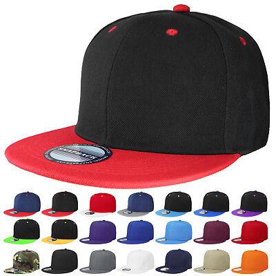 Plain Blank Snapback Hat Cap Hip Hop Style Flat Bill Adjustable Size Ship in Box