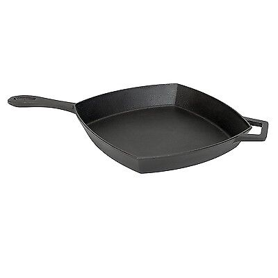 Bayou Classic 12Inch Cast Iron Square Skillet 7433 Skillet NEW