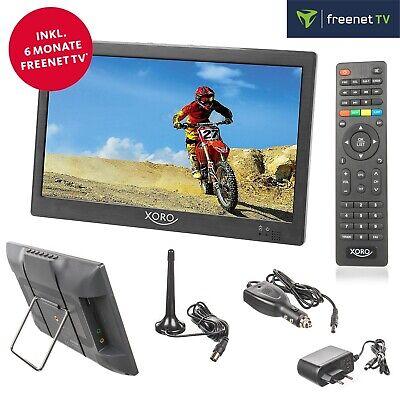 Xoro PTL 1050 Camping LED TV DVB-T2 tragbarer Fernseher 10  25 cm 12V 24V 230V