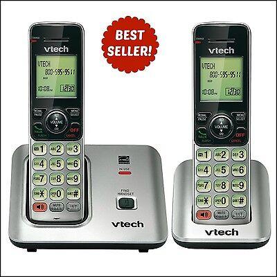 VTech Wireless Phones | 2 Cordless DECT 6.0 Handsets w/ Caller ID & Call Waiting