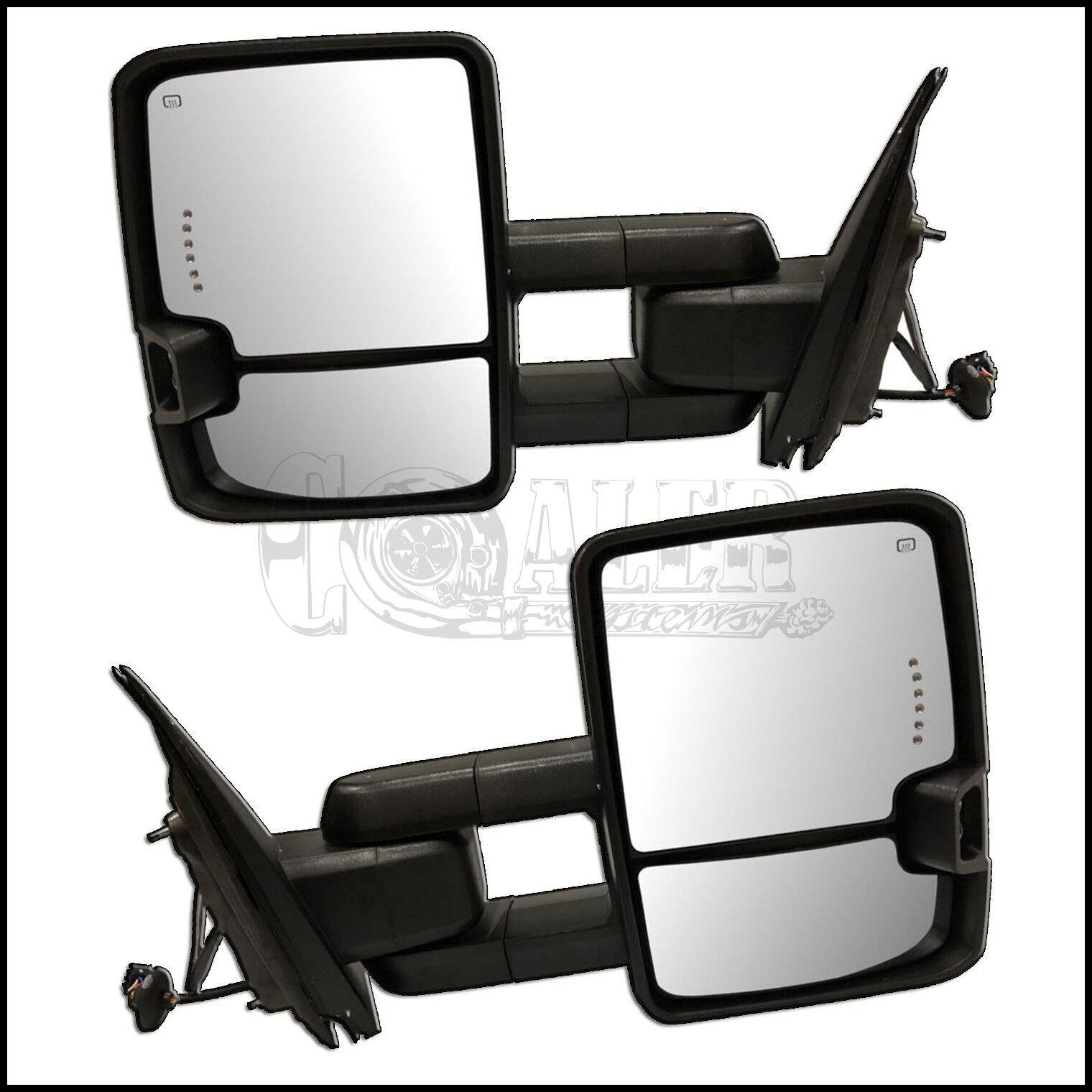 Power Heated Signal Clearance Lamp Fold Mirror For Silverado Sierra 1500 2500