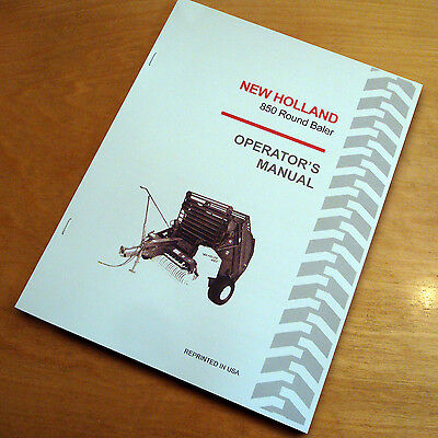 New Holland 850 Round Baler Operators Owners Book Guide Manual Nh Sperry