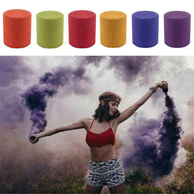Smoke Cake Colorful Smoke Effect Show Round Bomb Photography Aid Toy Divine Fine