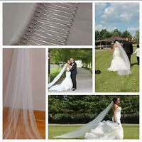 wedding veils ..cathedral  length, elbow length and birdcage