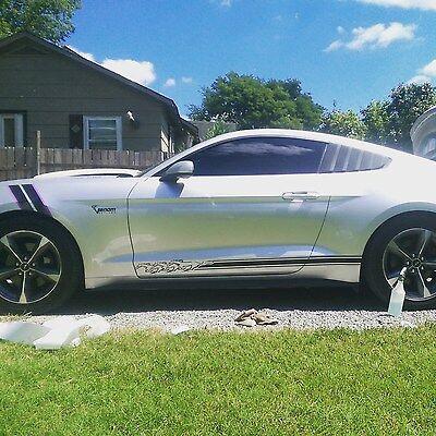 3 Pony Running 2015 2016 Mustang Rocker stripes Stripe Graphics Set Decals Decal