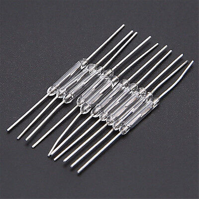 10pcs 14mm Glass Magnetic Induction Reed Switch Magswitch Normally Open Neu