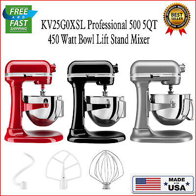 KV25G0XSL Professional 500 5QT, 450 Watt Bowl Lift Stand Mixer - KitchenAid
