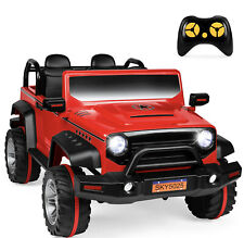 BCP 12V 2.2MPH Kids 2-Seater Ride-On Truck w/ Parent Control, MP3 Player