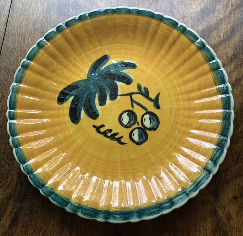 """Vintage Stangl Pottery Old Orchard Leaf Pattern 10"""" Plate #3307 Hand Painted"""