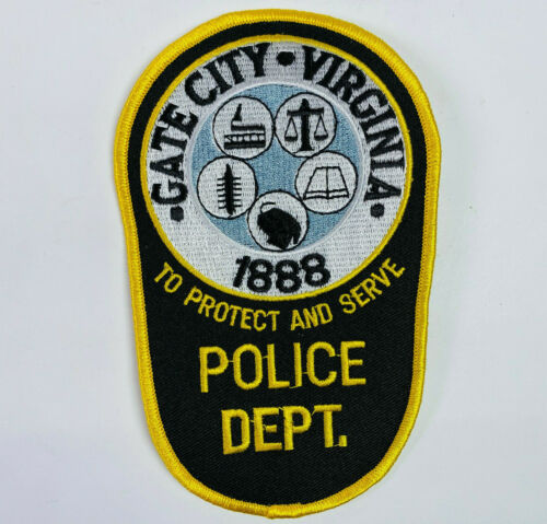 Gate City Police Scott County Virginia VA Patch (C1)