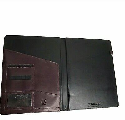 Day Runner Burgundy Leather Portfolio Binder Post-it 12 X 9.5 Folding Desk