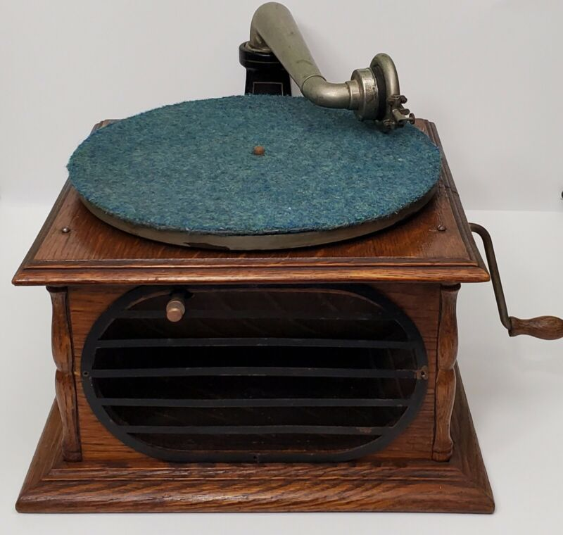 Vintage BZH Hornless Talking Machine Columbia Phonograph Record Player
