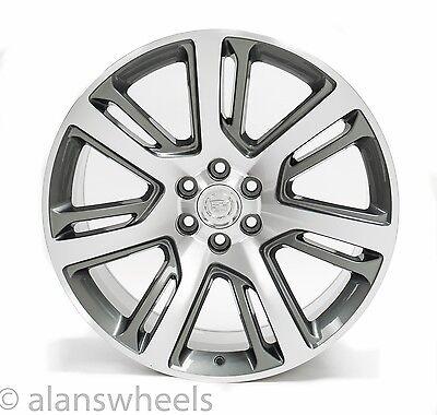 "4 NEW Cadillac Escalade ESV EXT Gunmetal Machined Face 24"" Wheels Rims Lugs 4738"