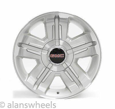 "4 NEW GMC Sierra Yukon Denali Silver Machined 18"" Wheels Rims Free Ship 5300"