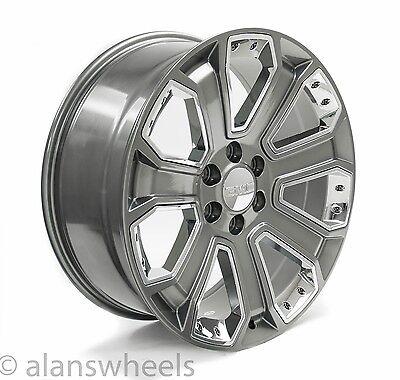 gmc sierra yukon denali gunmetal chrome inserts  wheels rims lugs  ebay