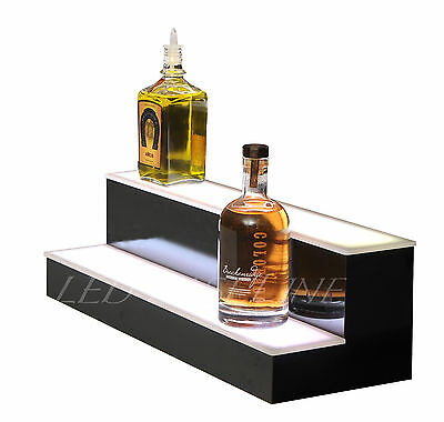 "20"" LED BAR SHELF, Two Step, Liquor Bottle Shelves, Bottle Display Shelving rack"