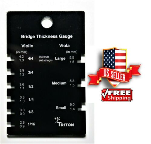Template for the measurement of thickness for all VIOLIN and VIOLA bridges.