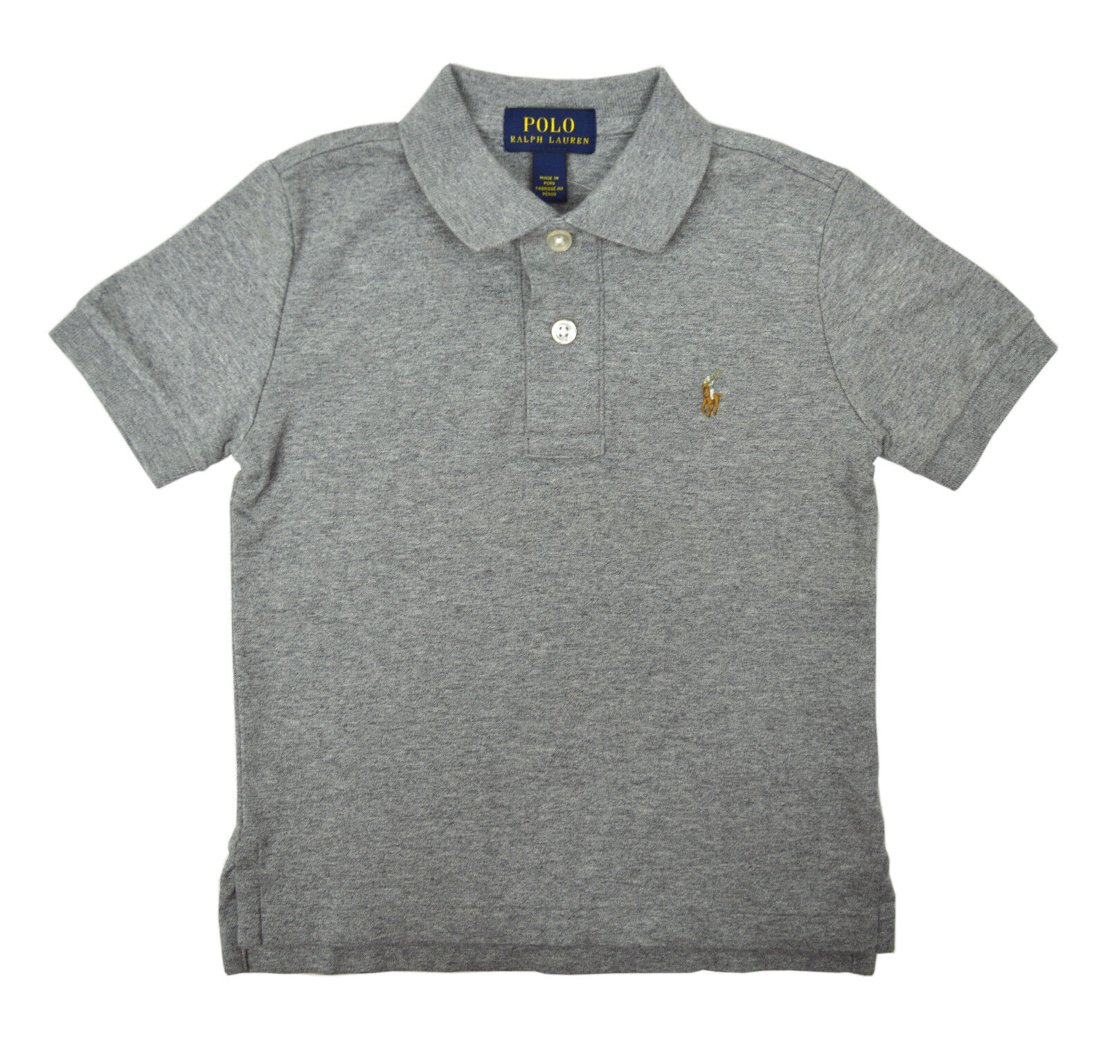 Polo Ralph Lauren Kid/'s Big Pony #3 Heather Grey S//S T-Shirt