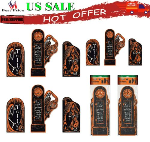 Beistle Vintage Halloween Invitation Cutouts For Party Decorations 6 Pieces New