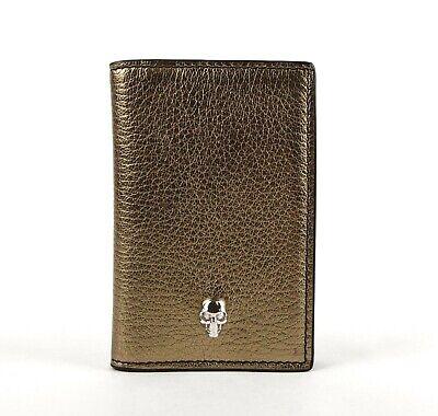 Alexander McQueen Gold Metallic Grain Leather Pocket Organizer 305073 7048