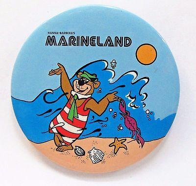 scarce 1978 YOGI BEAR MARINELAND advertising Pinback button