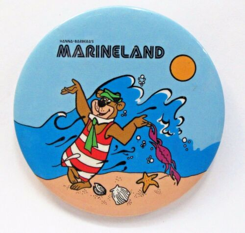 scarce 1978 YOGI BEAR MARINELAND advertising Pinback button