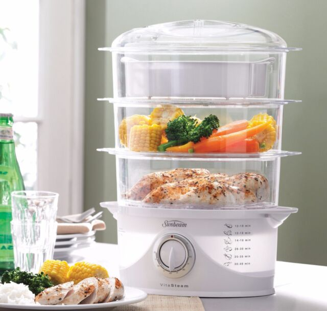 Sunbeam VitaSteam™  Prepare small to large quantities nutritious steamed meals