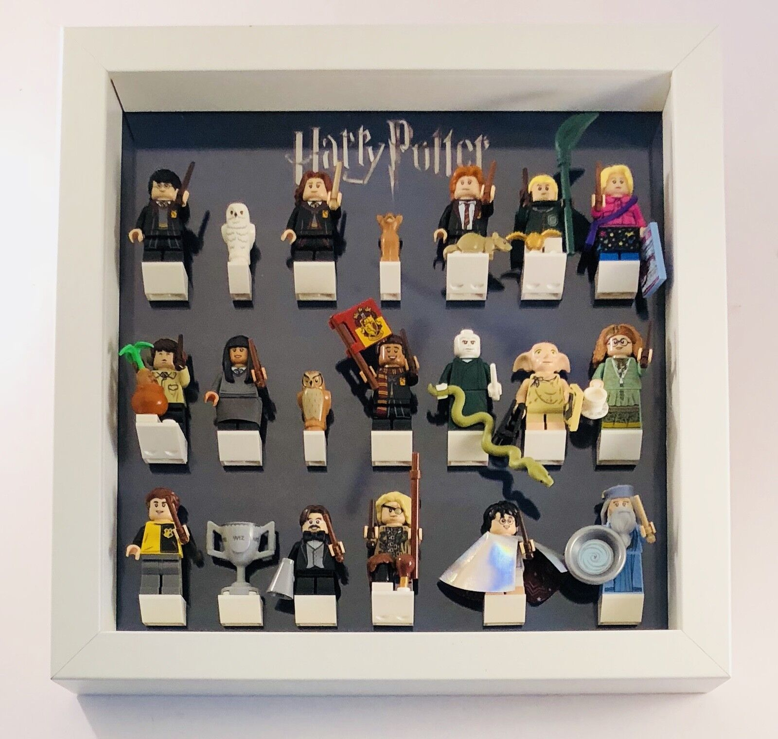 Lego Minifigure Display Case Frame Harry Potter Series CMF mini figures