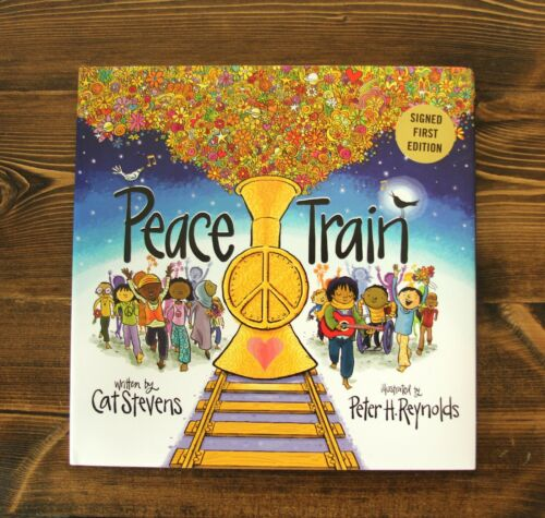 "CAT STEVENS YUSUF ISLAM ""PEACE TRAIN"" SIGNED 1ST EDITION HC JOHN LENNON YOKO"