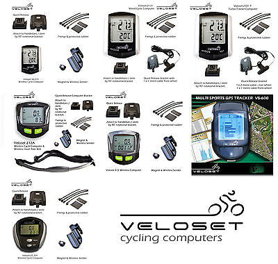 Veloset Cycle Computers – Wireless,Wired,GPS,Turbo Trainer – All In One listing!
