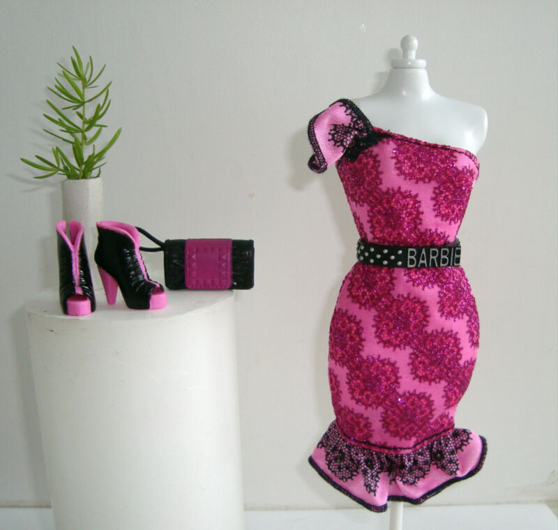 Barbie Clothes/Fashions Stylish Dress Belt, Purse, Shoes NEW!!
