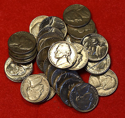 1958 D JEFFERSON NICKEL ROLL 40 COINS CIRCULATED NICE COINS CHECK OUT STORE