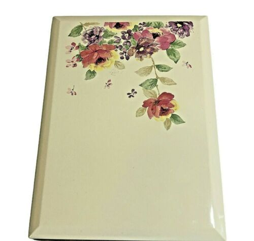 Vintage OTAGIRI Lacquerware Address Book Floral Mist Pattern Japan Never Used