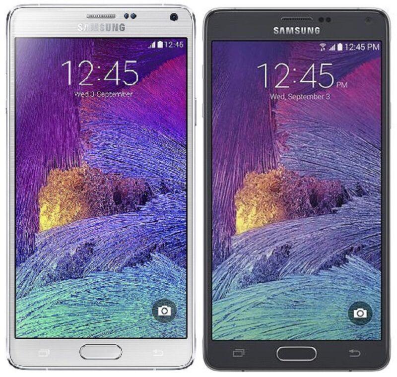 Samsung Galaxy Note 4 SM-N910A 32GB (AT&T) Unlocked - Black White - Smartphone