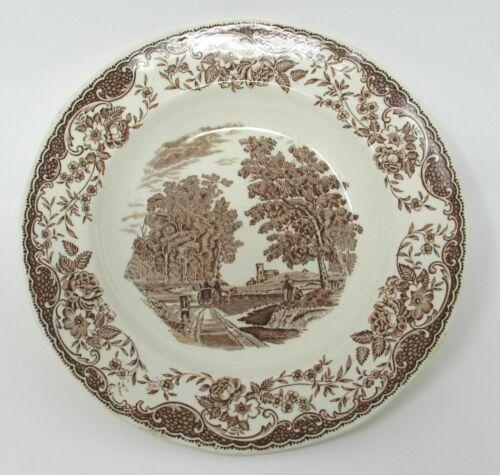 Royal Tudor Ware Barker Bros Olde England 8 inch Rimmed Soup Bowl Brown White