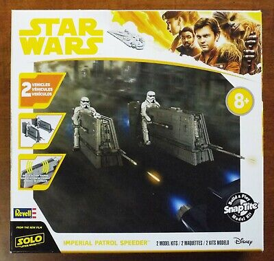 1/28 Star Wars Imperial Patrol Speeders SnapTite Revell 85-1676 Fact. Seal MISB