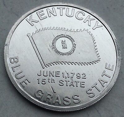 Kentucky Blue Grass 15th State Flower Golden Rod Capitol Frankfort Coin Medal ()