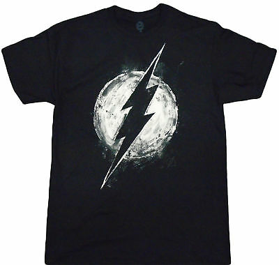 DC Comics Chalk Flash Logo Adult T-Shirt - DC Comics, Superhero, Action Movie, ](Adult Flash Movie)