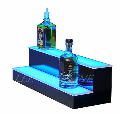26 Led Bar Shelf Two Step Liquor Bottle Shelves Bottle Display Shelving Rack