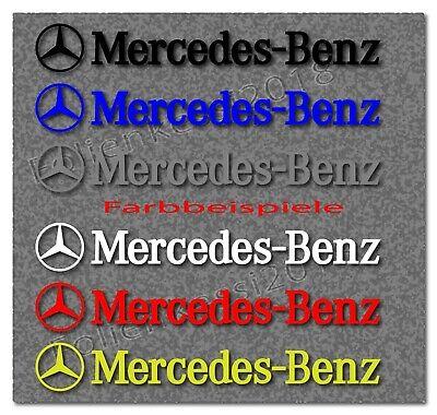 2x Dekorfolie passend für Mercedes Benz 200 x 30 mm  -30 Farben- MB015/200