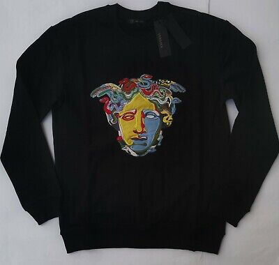 New VERSACE Men's Sweater All Size S M L XL 2XL Italy Hoodie Sweatshirts Baroque