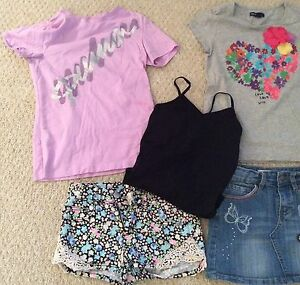 Lot Of 7 Girls Tops Shorts Jean Skirt Size 8-10 (8 Year Old) Cambridge Kitchener Area image 2